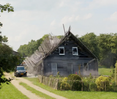 The guys at Postoffice Amsterdam put Fracture FX to destructive use when collapsing houses